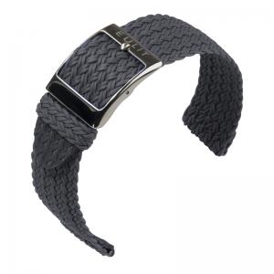 Eulit Two Piece Perlon Horlogeband Palma Pacific Grijs