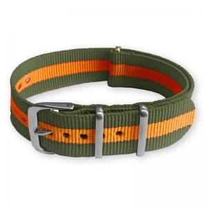 Groen Oranje NATO Horlogebandje Nylon