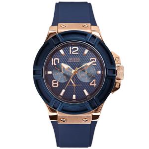 Guess Horlogebandje W0247G3 Rigor Blauw Rubber