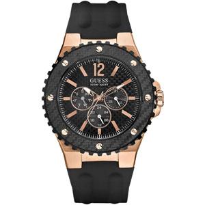 Guess Horlogebandje W12653G1 Overdrive Zwart Rubber