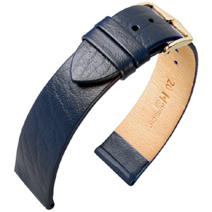 Hirsch Calf Horlogebandje Kalfsleer Blauw