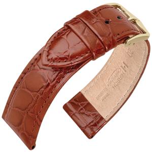 Hirsch Crocograin Horlogebandje Goudbruin