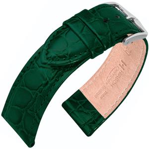 Hirsch Crocograin Horlogebandje Groen