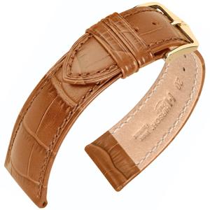 Hirsch Duke Horlogebandje Alligatorgrain Honing