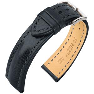 Hirsch Lucca Artisan Horlogebandje Zwart