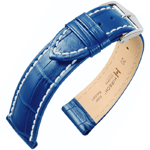 Hirsch Modena Horlogebandje Alligatorgrain Oceaan