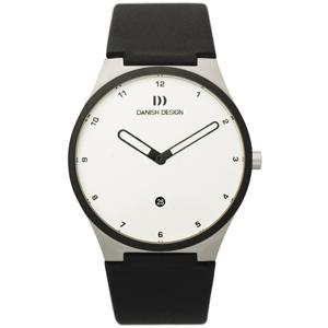 Horlogeband Danish Design IQ12Q884, IQ13Q884 - zwart leer