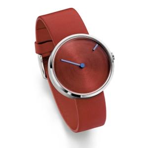 Jacob Jensen horlogeband Curve 255 Rood Leer
