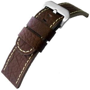 Kalfsleer Horlogebandje Lenzers Donkerbruin