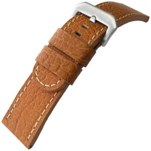 Kalfsleer Horlogebandje Lenzers Cognac
