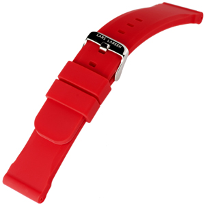 Rood Silicone Rubberen Horlogeband Lars Larsen - 22mm