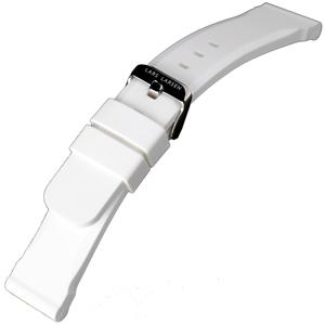 Wit Silicone Rubberen Horlogeband Lars Larsen - 22mm