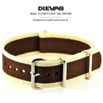 Light Tan Brown NATO G10 Military Nylon Strap - SS