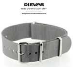 Light Gray NATO G10 Military Nylon Strap SS/MATTE