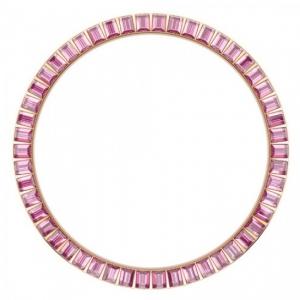 Marc Coblen Bezel 45mm Rosé Staal Roze Stenen - MCB45R209