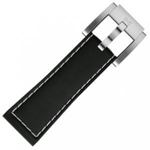 Horlogeband Zwart Leer Glad 22mm - Marc Coblen