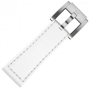 Marc Coblen / TW Steel Horlogeband Wit Leer Glad 22mm