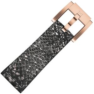 Marc Coblen / TW Steel Horlogeband Grijs Glamour Leer Slang 22mm