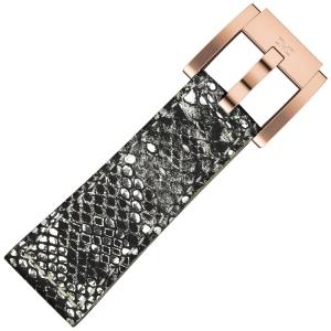 Marc Coblen / TW Steel Horlogeband Zilver Glamour Leer Slang 22mm