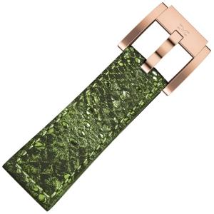 Marc Coblen / TW Steel Horlogeband Groen Glamour Leer Slang 22mm