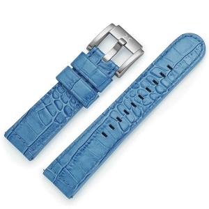 Horlogeband Blauw Leer Alligator 22mm - Marc Coblen