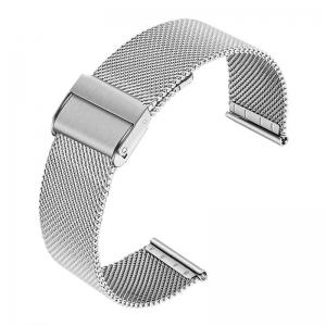 Mesh Milanaise Horlogebandje Fijn Geweven Staal