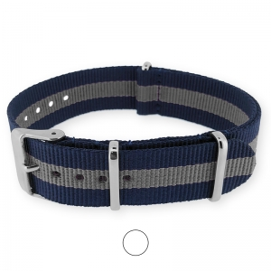 Regimental Navy Gray NATO G10 Military Nylon Strap