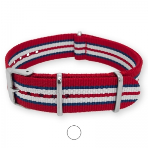 Red Blue White NATO G10 Military Nylon Strap