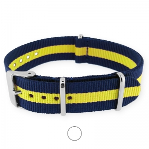 Regimental Navy Yellow NATO G10 Military Nylon Strap