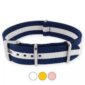 Regimental Navy White NATO G10 Military Nylon Strap