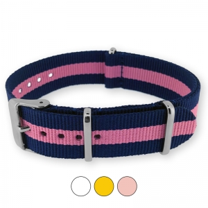 Regimental Navy Pink NATO G10 Military Nylon Strap