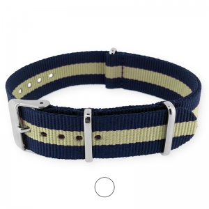 Regimental Navy Sand NATO G10 Military Nylon Strap