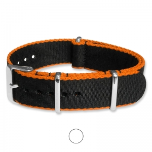 Black Orange Seatbelt NATO Deluxe Nylon Strap