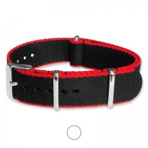 Black Red Seatbelt NATO Deluxe Nylon Strap