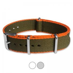 Army Green Orange Seatbelt NATO Deluxe Nylon Strap