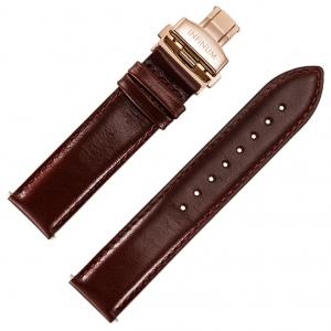 Infinum Optimismus Horlogebandje Bruin Kalfsleer Rose Vouwsluiting 22mm