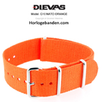 Orange NATO G10 Military Nylon Strap - SS/Matte/PVD
