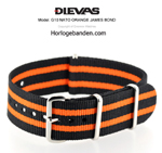Orange Bond NATO G10 Military Nylon Strap - SS