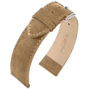 Hirsch Osiris Nubuck Horlogebandje Kalfsleer Beige