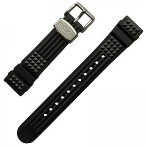 Seiko Marinemaster 300 MM300 SBDX017 Horlogeband Zwart Rubber 20mm