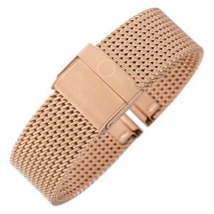 bandOh Mesh Milanaise Horlogebandje Fijn Geweven Rose Goud Staal