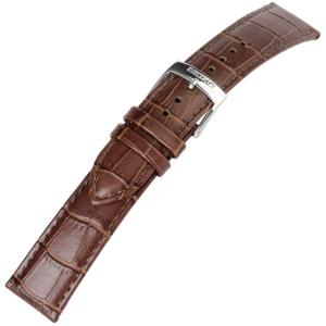 Seiko Horlogebandje Alligatorgrain Kalfsleer Bruin - 20 mm
