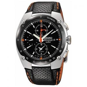 Seiko Sportura Horlogeband SNA481P1 Zwart Leer