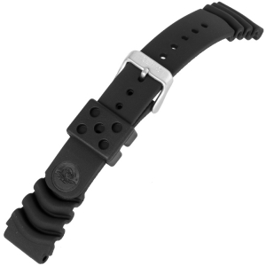 Seiko Duikhorloge Horlogeband Z20 Zwart Rubber - 20mm