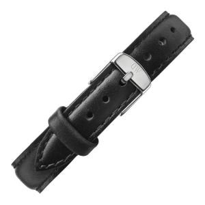Daniel Wellington 14mm Petite Sheffield Zwart Leer Horlogebandje RVS Gesp