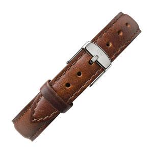 Daniel Wellington 13mm Classy St Mawes Bruin Leer Horlogebandje RVS Gesp