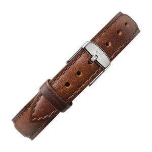 Daniel Wellington 12mm Petite St Mawes Bruin Leer Horlogebandje RVS Gesp