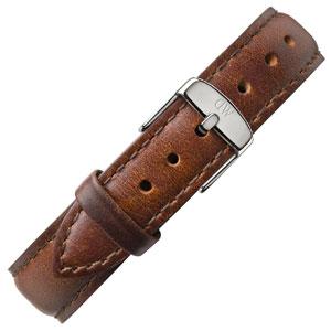 Daniel Wellington 17mm Classy St Mawes Bruin Leer Horlogebandje RVS Gesp