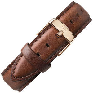 Daniel Wellington 20mm Classic St Mawes Bruin Leer Horlogebandje Rose Gesp