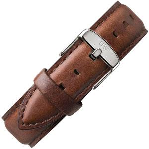 Daniel Wellington 20mm Classic St Mawes Bruin Leer Horlogebandje RVS Gesp